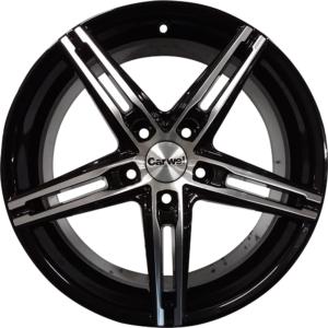 Volvo velg Carwel Alpha Black Polish